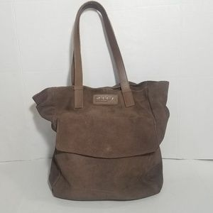 M.I.L.A. suede bucket tote